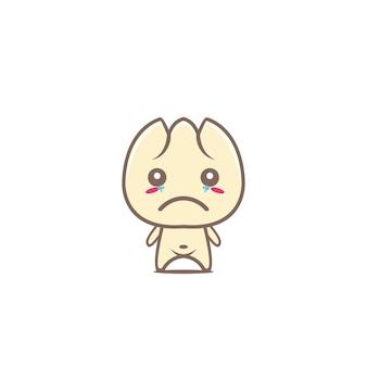 Cute dim sum mascot food character kawaii dumpling