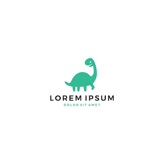 Cute dino dinosaur logo