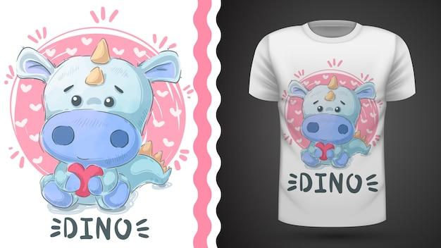 Cute dino - идея для футболки с принтом