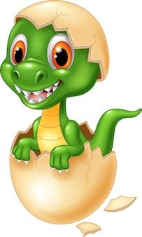 귀여운 공룡 만화 부화