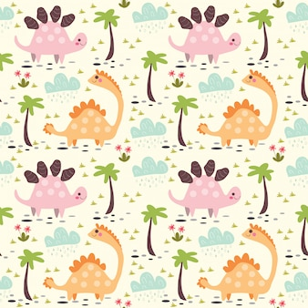 Cute dinosaur pattern for kids