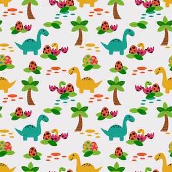 Cute dinosaur seamless pattern.