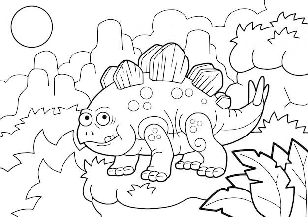 Cute dinosaur stegosaurus