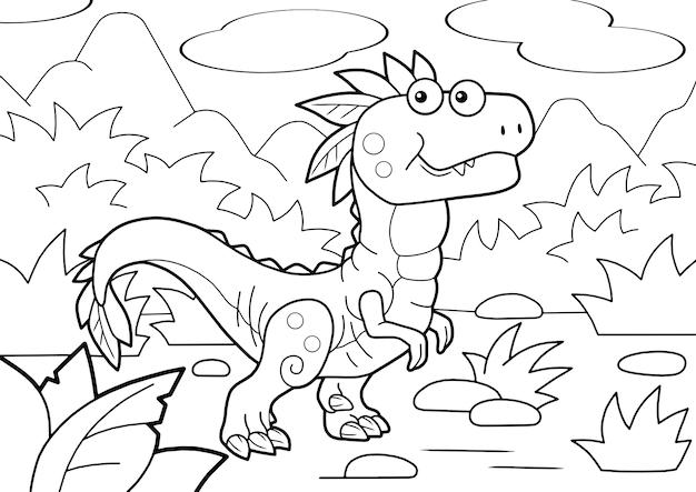 Милый динозавр велоцираптор