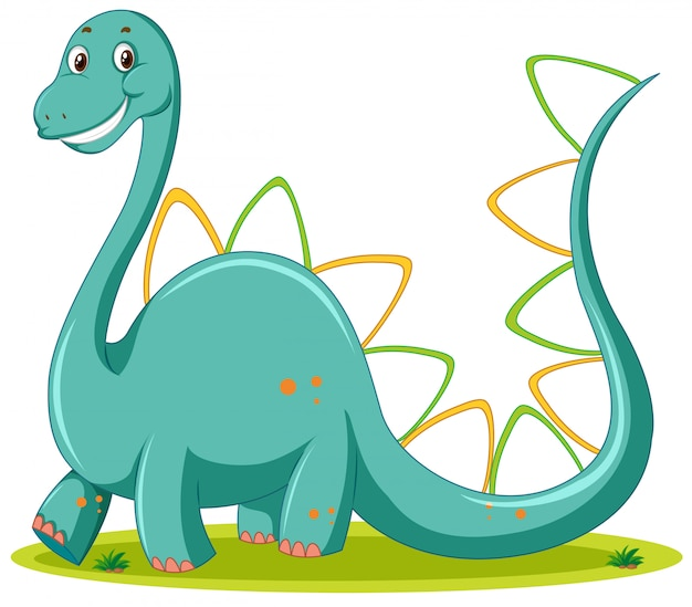 Cute dinosaur white background