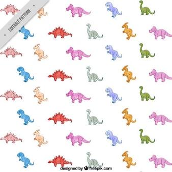 귀여운 공룡 패턴