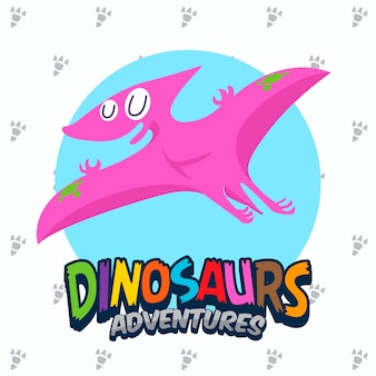 Cute dinosaurs vector set