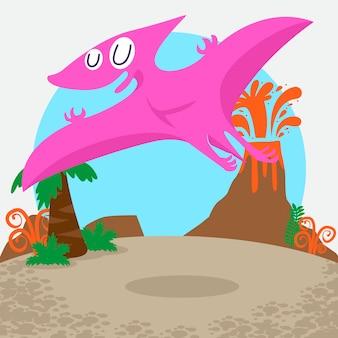 かわいい恐竜ベクトルを設定