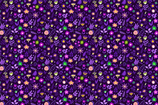 Cute ditsy floral pattern with small flowers