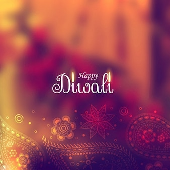 Cute diwali background with paisley elements