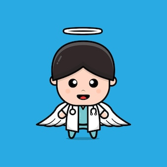 Cute doctor character illustration