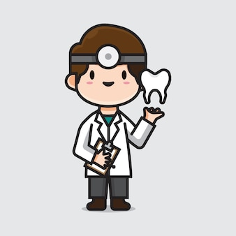 Cute doctor dentist
