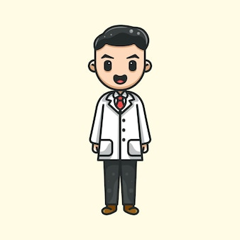 Cute doctor for icon character logo sticker and illustration