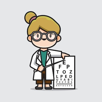 Cute doctor ophthalmologists