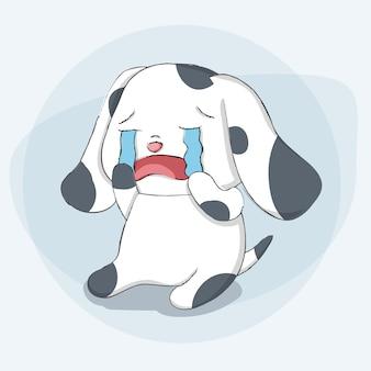 Cute dog animal cartoon hand drawn