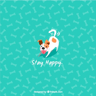 Cute dog background