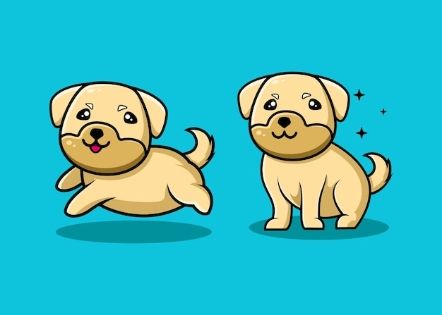 Милая собака мультипликационный персонаж