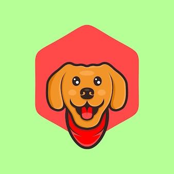 Симпатичная собака мультяшный дизайн вектор