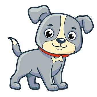 Милый мультфильм собаки. собака клипарт векторные иллюстрации