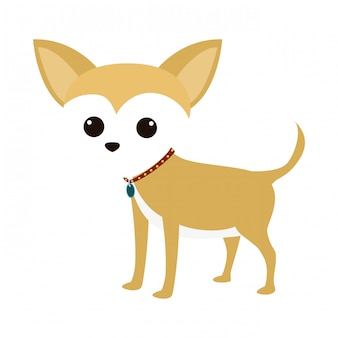 Cute dog cartoon icon