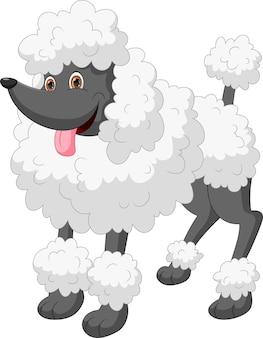Милый мультфильм собака на белом фоне