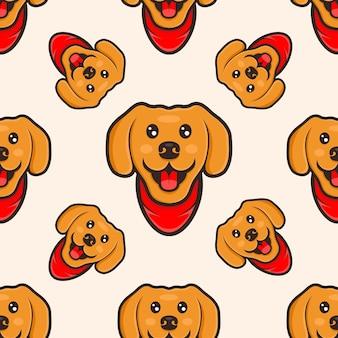 Cute dog cartoon pattern design