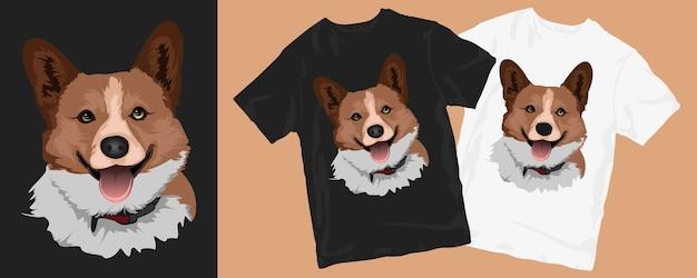귀여운 강아지 만화 티셔츠 디자인