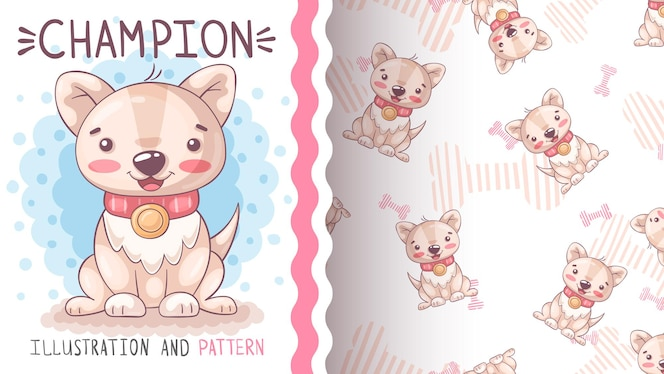 귀여운 강아지 챔피언 원활한 패턴
