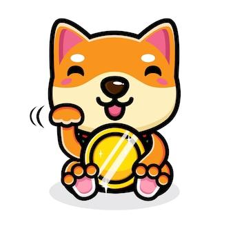 귀여운 강아지 캐릭터 디자인