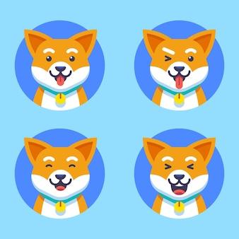 Симпатичная собака характер вектор