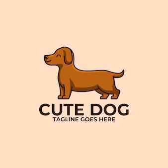 Cute dog design concept illustration