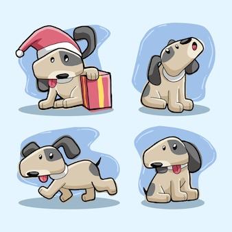 Cute dog design vector collection
