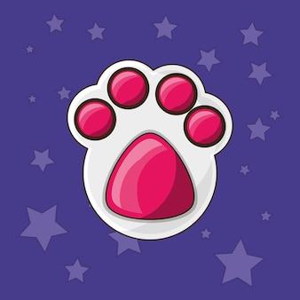 かわいい犬のフットプリントアイコン