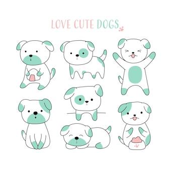 かわいい犬の手描きのスタイル