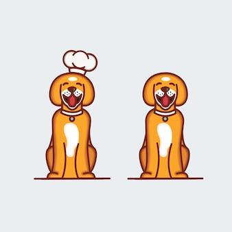 Cute dog illustration character