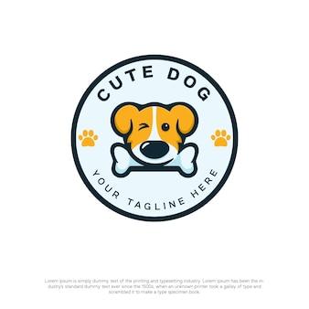 カワイイスタイルのかわいい犬のロゴ
