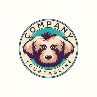 Симпатичный логотип собаки