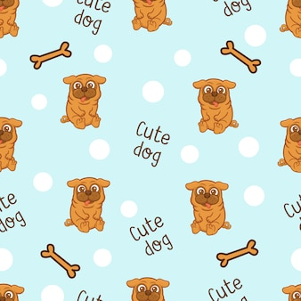 Cute dog pattern background