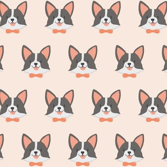 Cute dog pattern