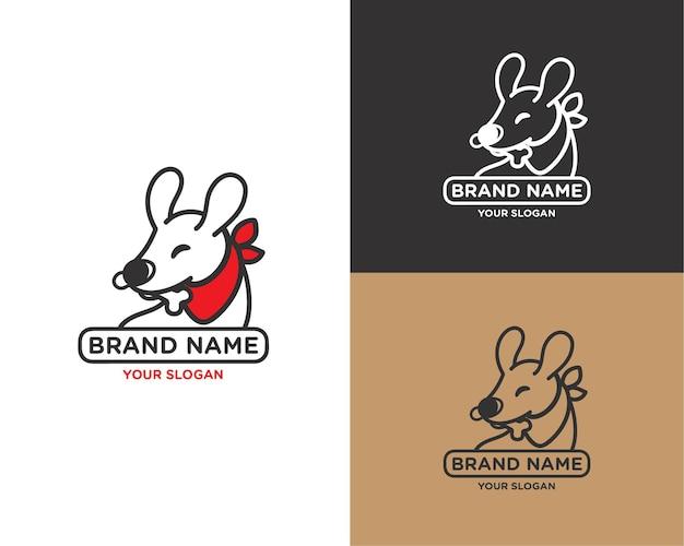 Симпатичная собака зоомагазин логотип