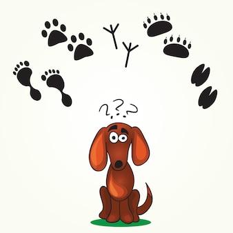 Cute dog's game - помоги собаке найти след