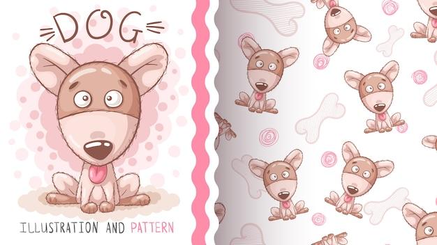귀여운 강아지-완벽 한 패턴