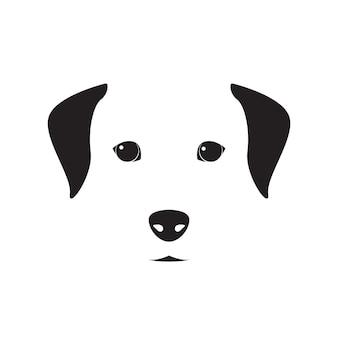 エンブレムのかわいい犬のシンプルなデザイン