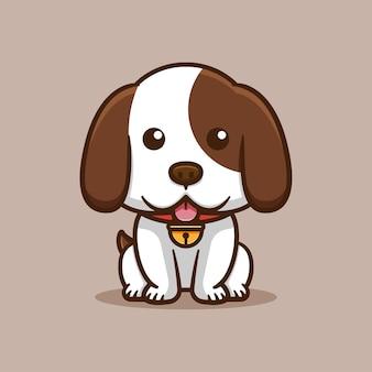 かわいい犬が座るデザイン
