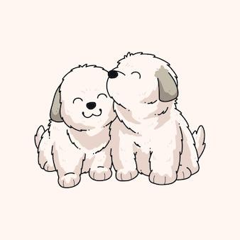 かわいい犬のベクトルイラストデザイン