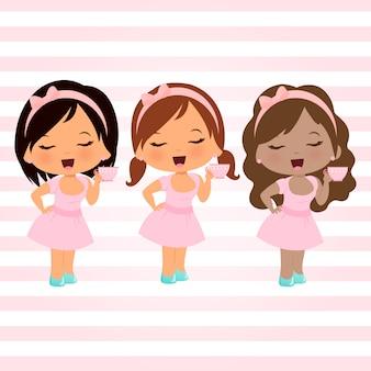 Cute dolls set