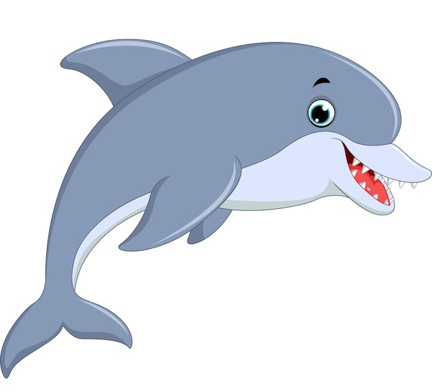 귀여운 돌고래 점프