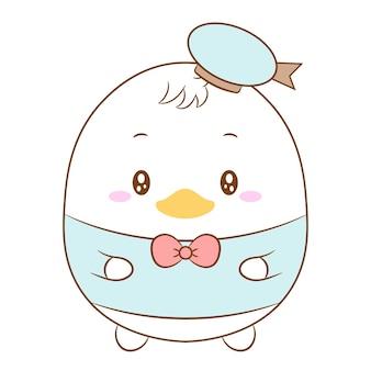 Cute donald duck drawing