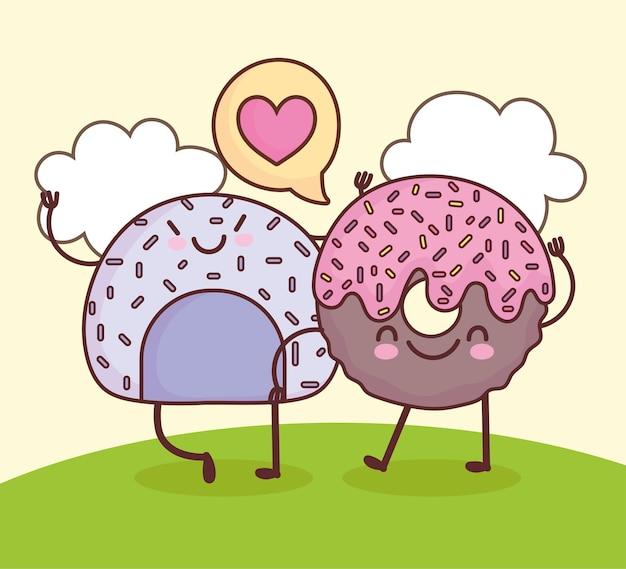Милое печенье с пончиками