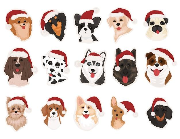 Cute doodle corgi for christmas